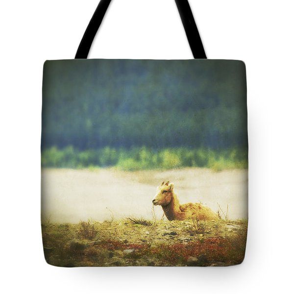 Impressionistic Style Of A Bighorn Tote Bag by Roberta Murray