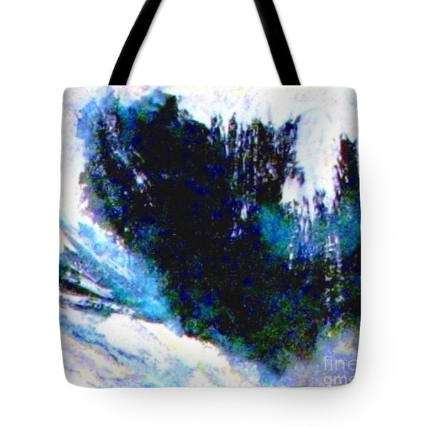 Impressionistic Waterfall Tote Bag by Hazel Holland