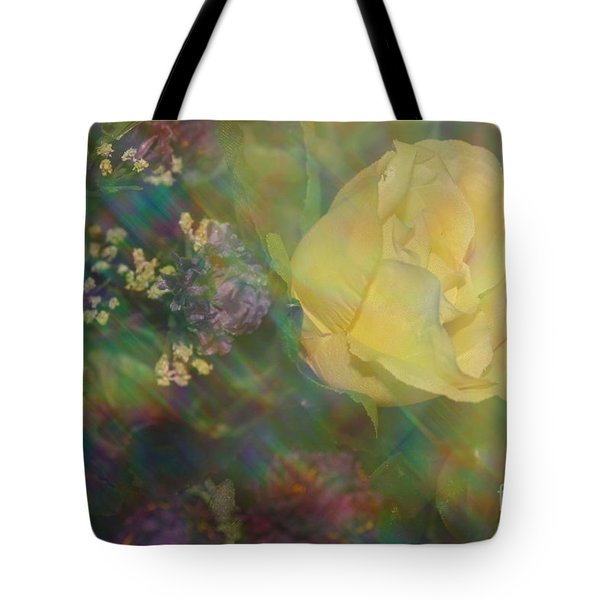 Tote Bag featuring the photograph Impressionistic Yellow Rose by Dora Sofia Caputo Photographic Art and Design