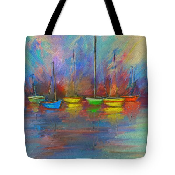Impressions Of A Newport Beach Sunset Tote Bag by Angela A Stanton
