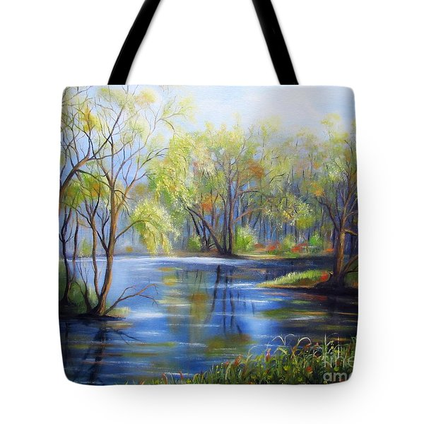 Impressions Of Spring Tote Bag by Vesna Martinjak