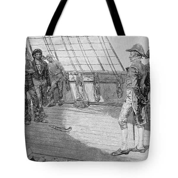 Impressment Of American Seamen, Illustration From Our Countrys Cradle By Thomas Wentworth Tote Bag