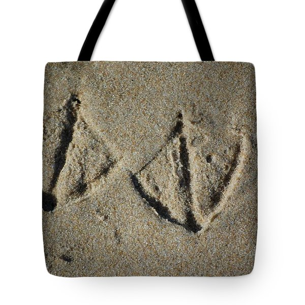 Tote Bag featuring the photograph Imprints by Christiane Hellner-OBrien