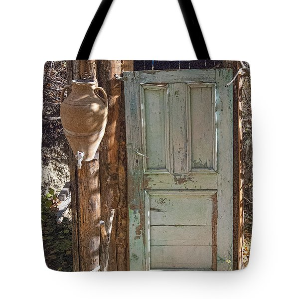 Improvised Outhouse Tote Bag