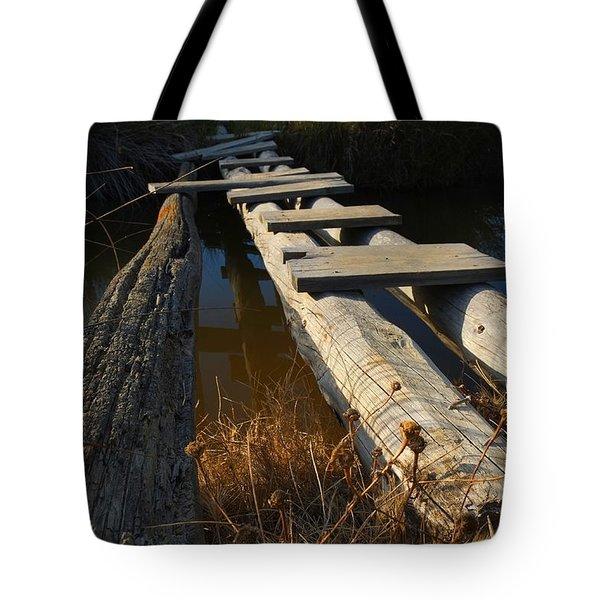 Improvised Wooden Bridge Tote Bag