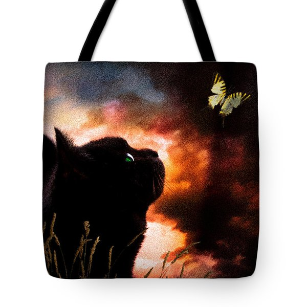In A Cats Eye All Things Belong To Cats.  Tote Bag by Bob Orsillo