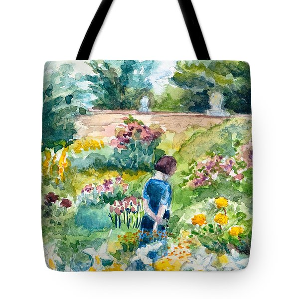 In An English Cottage Garden Tote Bag