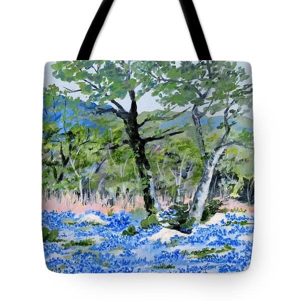 In April-texas Bluebonnets Tote Bag