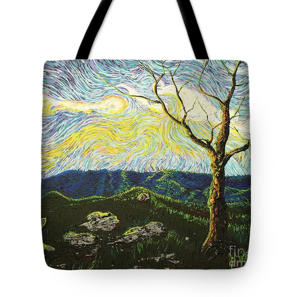 In Between A Rock And A Heaven Place Tote Bag