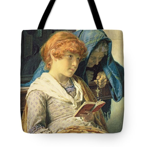 In Church Tote Bag by Luigi da Rios