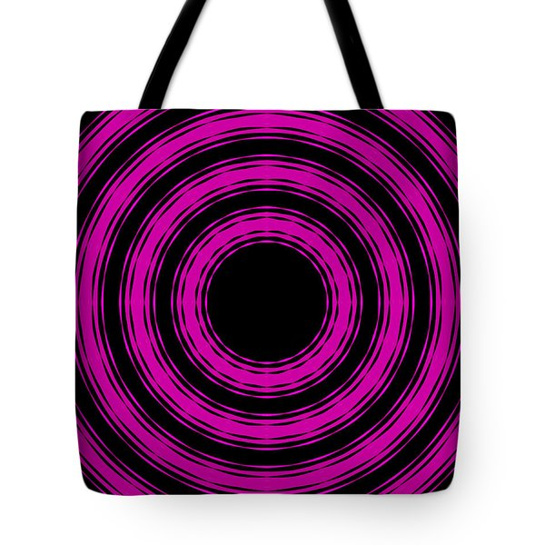 In Circles-pink Version Tote Bag by Roz Abellera Art