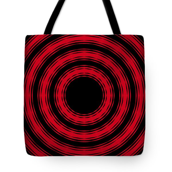 In Circles- Red Version Tote Bag by Roz Abellera Art