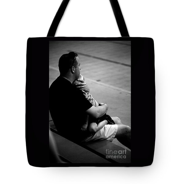 In Daddy's Arms Tote Bag