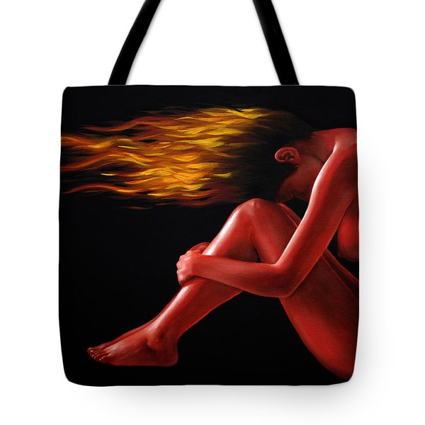 In Flame Tote Bag