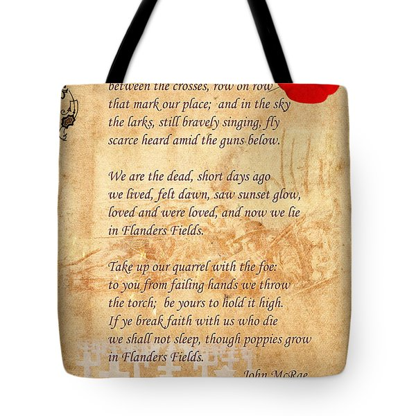 In Flanders Fields Tote Bag