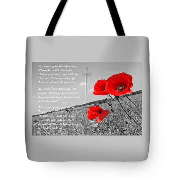 In Flanders Fields Tote Bag by Gill Billington