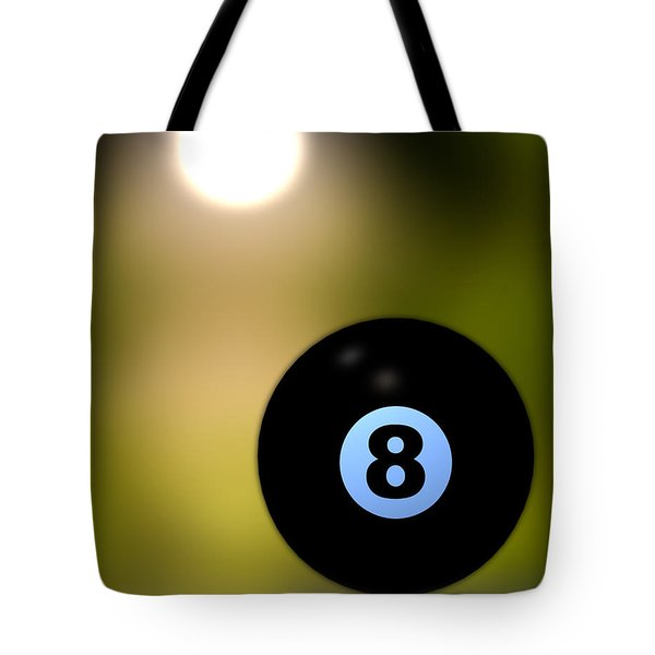 In Front Of The Eight Ball Tote Bag by Bob Orsillo