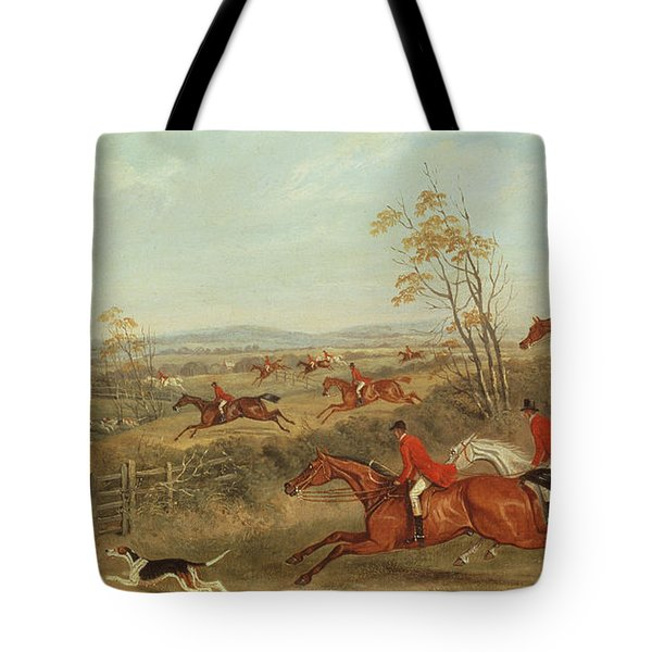 In Full Cry Tote Bag by James Russell Ryott