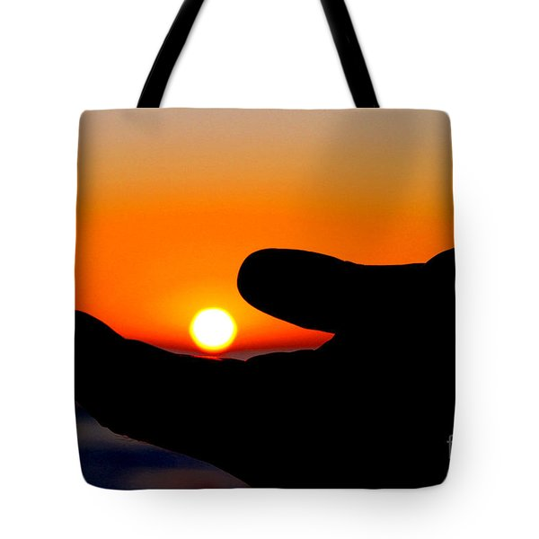 In His Hands By Diana Sainz Tote Bag