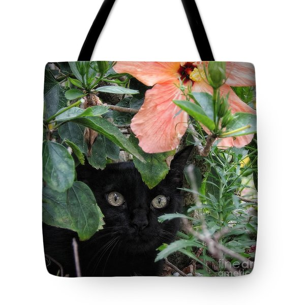 In His Jungle Tote Bag by Peggy Hughes