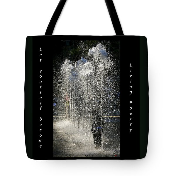 In His Own World Tote Bag