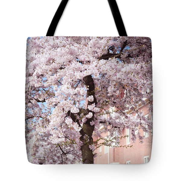In Its Glory. Pink Spring In Amsterdam Tote Bag by Jenny Rainbow