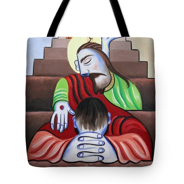 In Jesus Name Tote Bag by Anthony Falbo