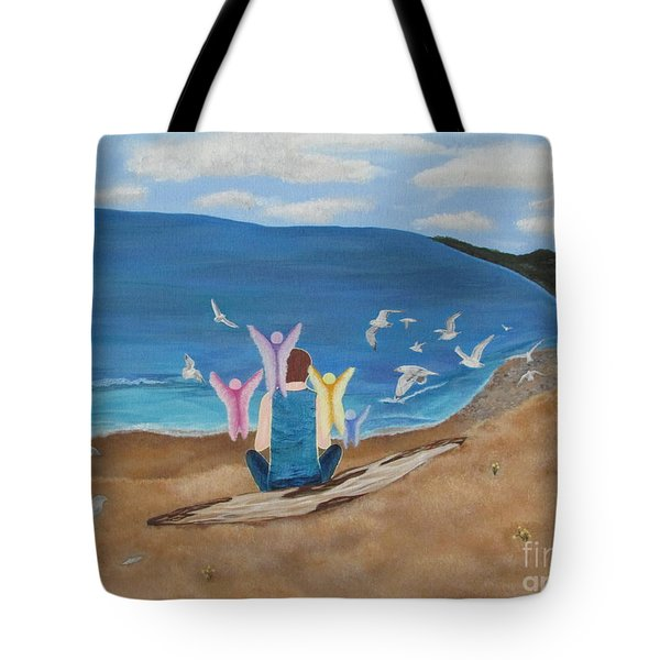 Tote Bag featuring the painting In Meditation by Cheryl Bailey