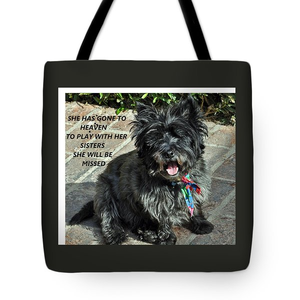 In Memory Of Her Tote Bag by Jay Milo