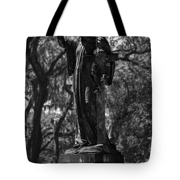In Memory Of Monochromatic Tote Bag by Lynn Palmer