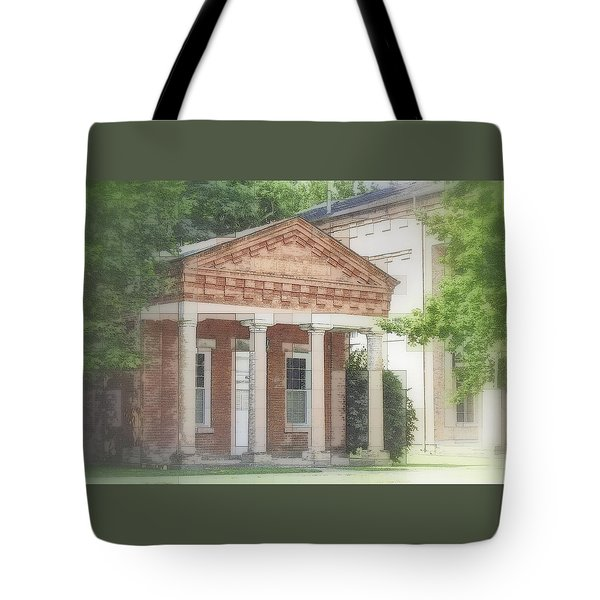 Tote Bag featuring the photograph in Montour Falls NY by Jodie Marie Anne Richardson Traugott          aka jm-ART