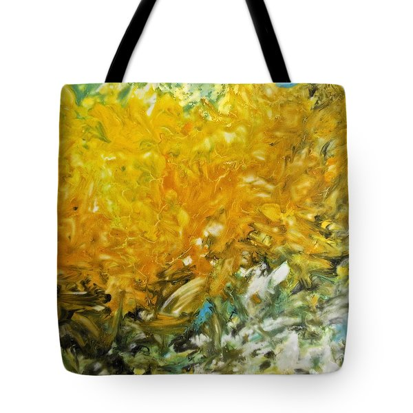 Tote Bag featuring the painting In My Magic Garden by Joan Reese