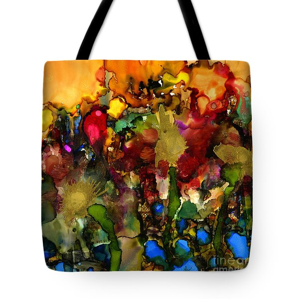 In My Sister's Garden Tote Bag by Angela L Walker