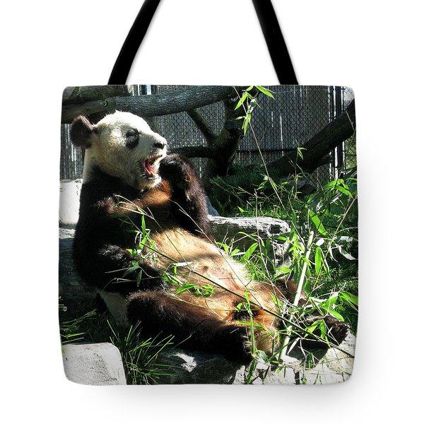 In Need Of More Sleep. Er Shun Giant Panda Series. Toronto Zoo Tote Bag