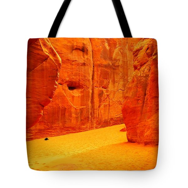 In Orange Chasms Tote Bag by Jeff Swan