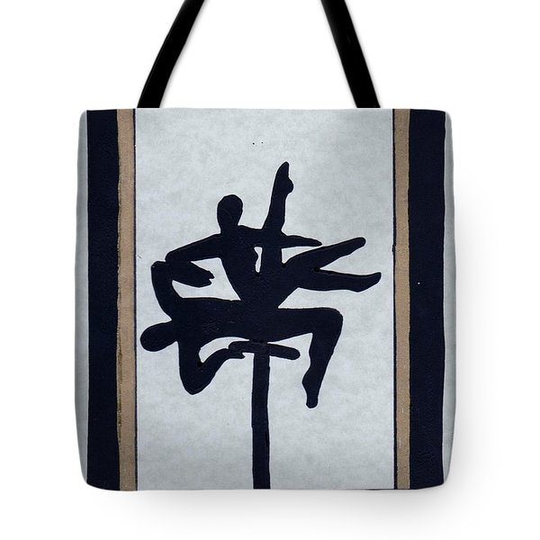 Tote Bag featuring the mixed media In Perfect Balance by Barbara St Jean