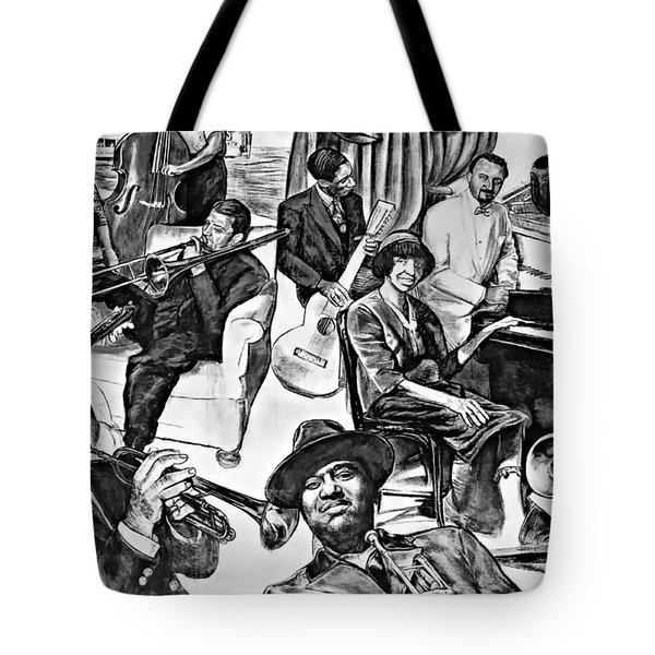 In Praise Of Jazz II Tote Bag by Steve Harrington