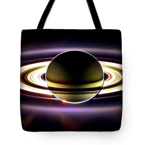In Saturn's Shadow Tote Bag by Benjamin Yeager