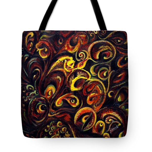 Tote Bag featuring the painting In Search Of  Ultimate Truth by Harsh Malik