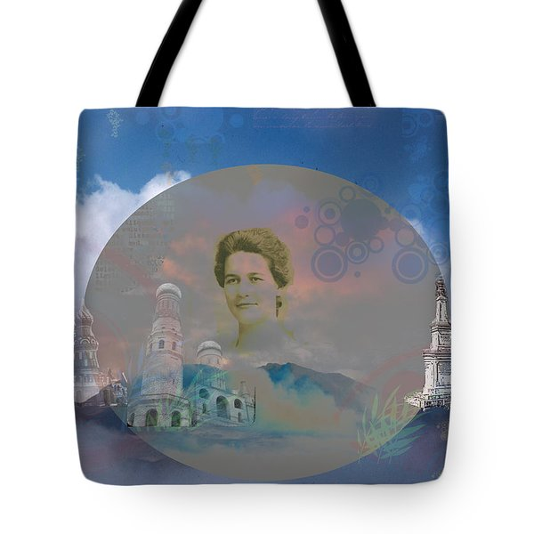 Tote Bag featuring the digital art In The Air by Cathy Anderson