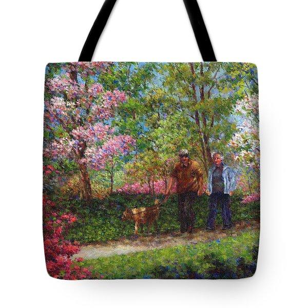 In The Azalea Garden Tote Bag by Susan Savad