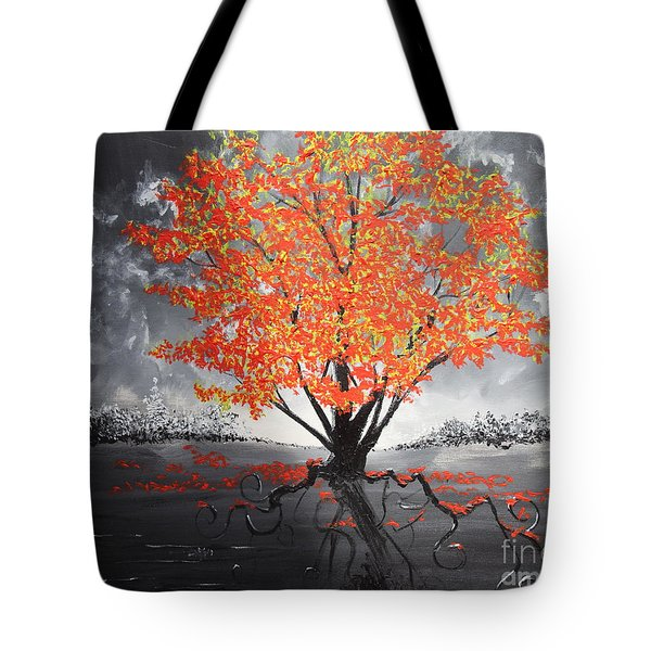 Blaze In The Twilight Tote Bag