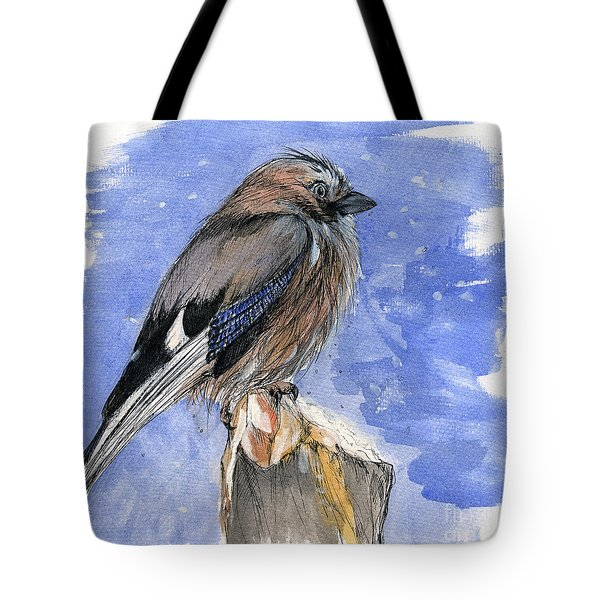 In The Cold Winter Night Tote Bag by Angel  Tarantella