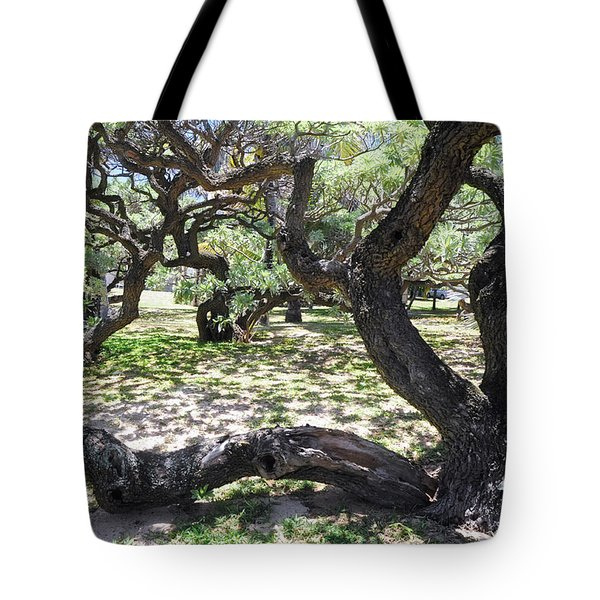 In The Depth Of Enchanting Forest V Tote Bag by Jenny Rainbow