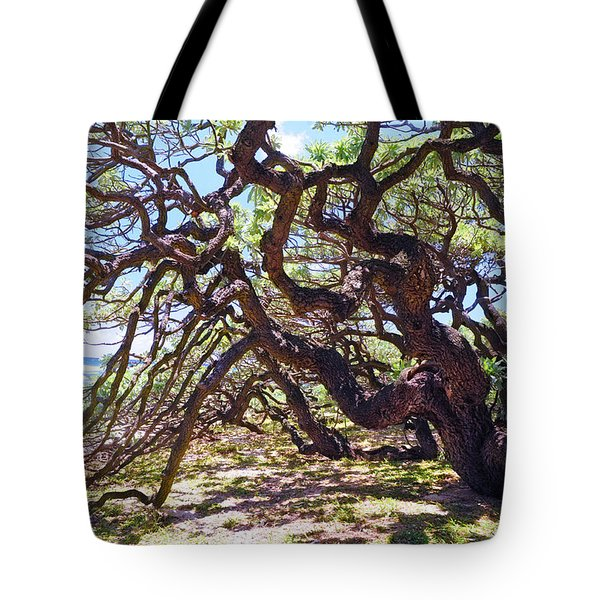 In The Depth Of Enchanting Forest Vii Tote Bag by Jenny Rainbow