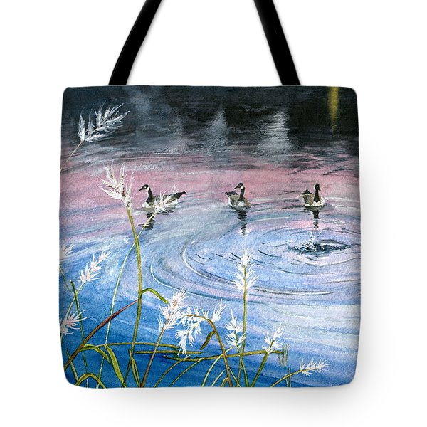 Tote Bag featuring the painting In The Dusk by Melly Terpening