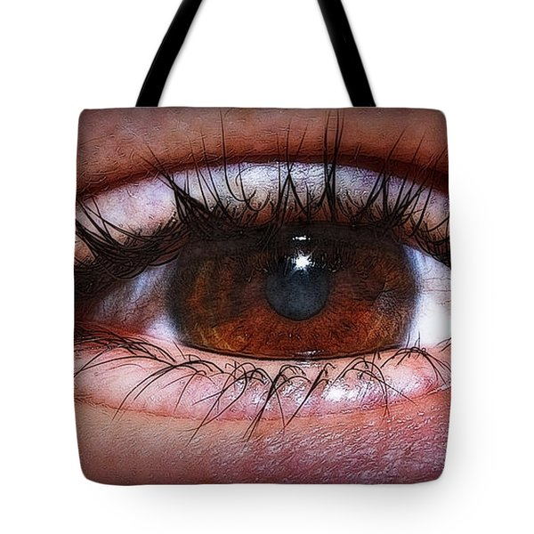 In The Eye Of The Beholder... Tote Bag by Tammy Schneider