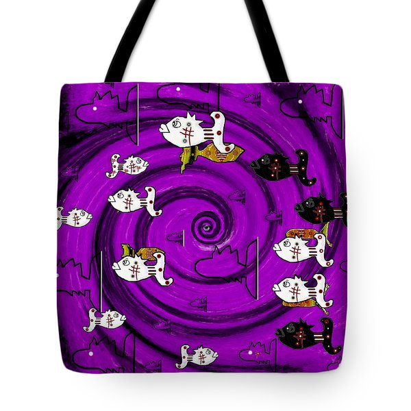 In The Eye Of The Hurricane Tote Bag by Pepita Selles