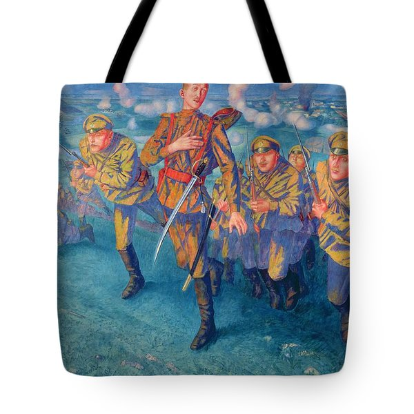 In The Firing Line Tote Bag
