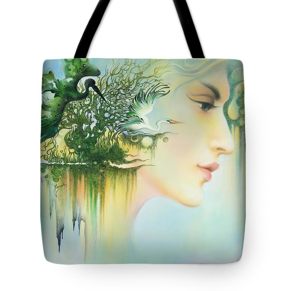 In The Fluter Of Wings-in The Silence Of Thoughts Tote Bag